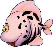 Smiling pink fish Stock Photos