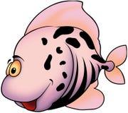 Smiling pink fish. Fish 46 - High detailed illustration - Smiling pink fish Stock Photos
