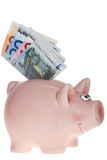 Smiling Pink piggy bank Royalty Free Stock Photography