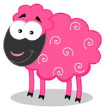 Smiling pink sheep Royalty Free Stock Image