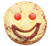 Smiling pizza Royalty Free Stock Image