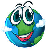 A smiling planet Earth Stock Image