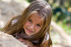 Smiling playful girl Royalty Free Stock Image
