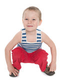 Smiling playful little boy Royalty Free Stock Images