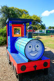 Smiling playground train in Levin town, New Zealand Stock Photography