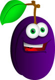 Smiling Plum Stock Photo