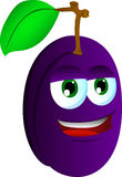 Smiling Plum Royalty Free Stock Photo