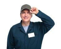 Smiling plumber man. Stock Images