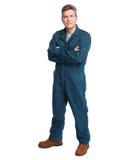 Smiling plumber man. Royalty Free Stock Photo