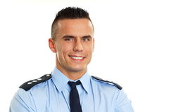 Smiling policeman Stock Images