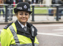 Smiling Policewoman Stock Images
