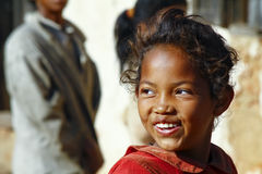 Smiling poor african girl, Africa. Smiling poor african girl, Madagascar Royalty Free Stock Photography