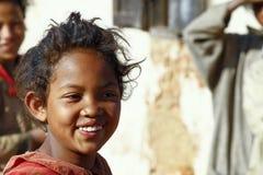 Smiling poor african girl, Africa. Smiling poor african girl, Madagascar Stock Photos