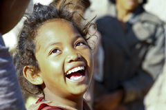 Smiling poor african girl, Africa. Smiling poor african girl, Madagascar Stock Images