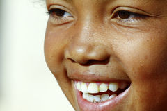 Smiling poor african girl, Africa Royalty Free Stock Image
