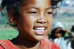 Smiling poor african girl, Africa Royalty Free Stock Photos