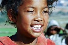 Smiling poor african girl, Africa. Smiling poor african girl, Madagascar Royalty Free Stock Photos