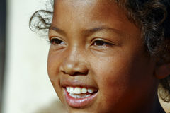 Smiling poor african girl, Africa. Smiling poor african girl, Madagascar Stock Photography