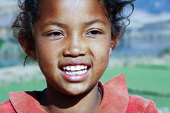 Smiling poor african girl, Africa Royalty Free Stock Photo