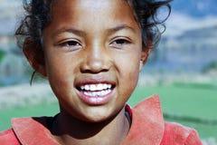 Smiling poor african girl, Africa. Smiling poor african girl, Madagascar Royalty Free Stock Photo