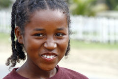 Smiling poor african girl Royalty Free Stock Photo