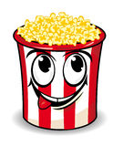 Smiling popcorn box Stock Photo