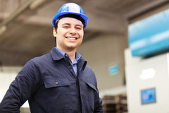 Smiling portrait of an electrician Royalty Free Stock Photo