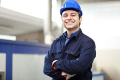 Smiling portrait of an electrician Stock Image