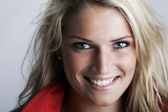 Smiling portrait of a gorgeous female model royalty free stock image