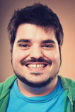 Smiling portrait man Stock Image