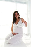Smiling portrait of pregnant woman Stock Image
