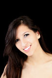 Smiling Portrait young caucasian woman Royalty Free Stock Photo