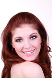 Smiling portrait young red head woman Royalty Free Stock Photos