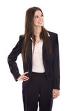 Smiling portrait of a young successful smiling businesswoman. Royalty Free Stock Photos
