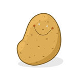 Smiling Potato illustration Stock Images