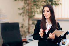 Portrait of a Female CEO in Office Workplace royalty free stock image