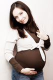 Smiling pregnant woman Royalty Free Stock Photo