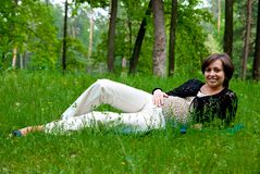 Smiling pregnant woman Royalty Free Stock Photo