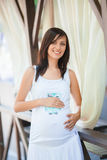 Smiling pregnant woman Royalty Free Stock Photos
