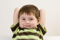 Smiling preschool boy Stock Image