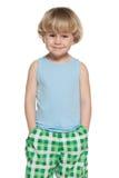 Smiling preschool boy Stock Photos