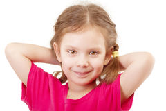 Smiling preschool child in red vest Stock Image