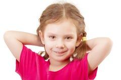 Smiling preschool child in red vest Stock Image