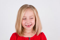 Smiling preschool girl Stock Photography