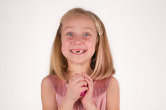 Smiling preschool girl Stock Photos