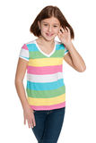 Smiling preteen girl Stock Images