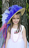 Smiling Pretty. Pretty little girl smiling pretty for her birthday dress up party portrait Royalty Free Stock Images