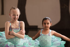 Smiling Pretty Ballet Girls Royalty Free Stock Photography