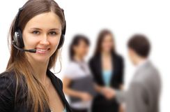 Smiling Pretty Business Woman Stock Images