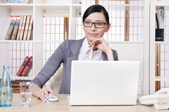 Smiling pretty business woman Stock Photo